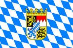 Bavarian Lozengy Flag with Lesser Coat of Arms