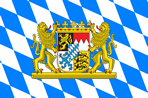 Bavarian Lozengy Flag with Greater Coat of Arms