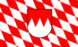Franconian Lozengy Flag with Coat of Arms