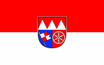 Lower Franconian Striped Flag with Coat of Arms