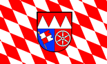 Lower Franconian Lozengy Flag with Coat of Arms