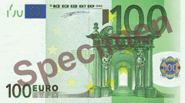 100 Euro Bill Front