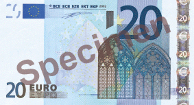20 Euro Bill Front