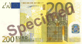 200 Euro Bill Front