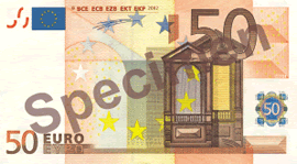 50 Euro Bill Front