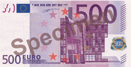 500 Euro Bill Front