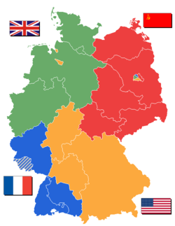 Map of Occupied Germany