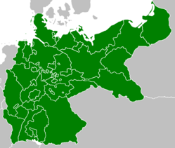 Map of Second German Empire