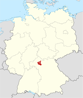 Map of Schweinfurt County in Bavaria