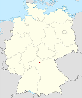 Map of Schonungen in Bavaria