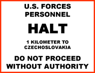 Czech Border Sign