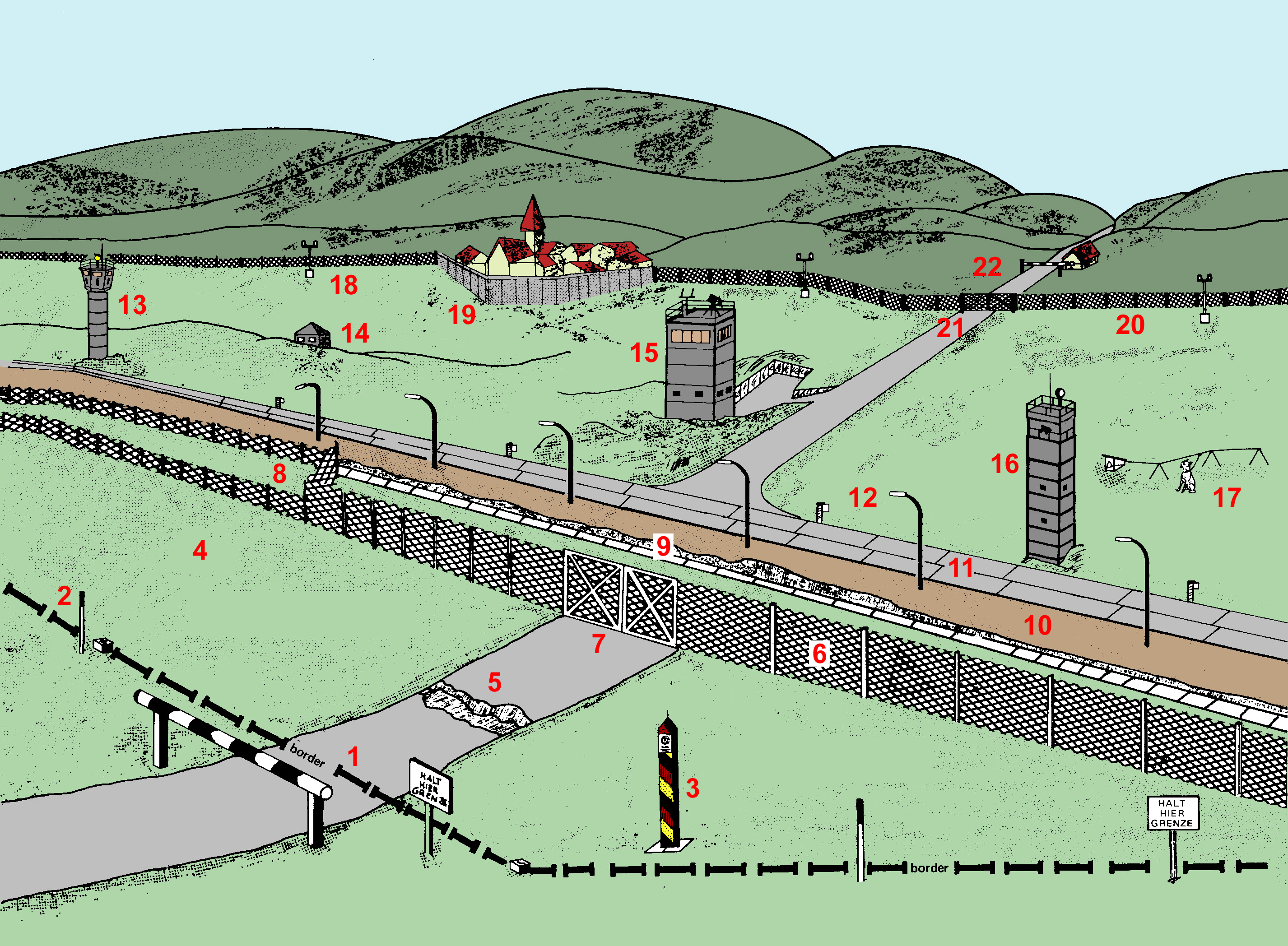 Click here for a larger view of the East German Border Fortification ...