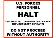 German Border Sign