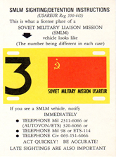 SMLM (Soviet Military Liaison Mission) Instructions Card