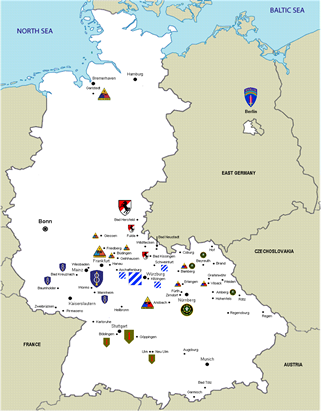 Click here for a larger map of Cold War units in West Germany