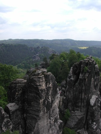 Rock formations in the Bastei