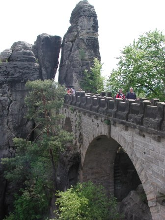 A view of the Bastei bridge
