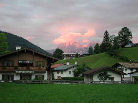 Sunset at Ramsau