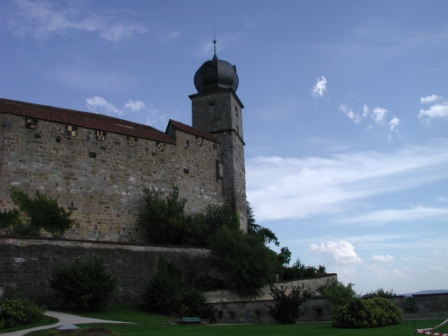 The Blue Tower as viewed from the Bear's Bastion