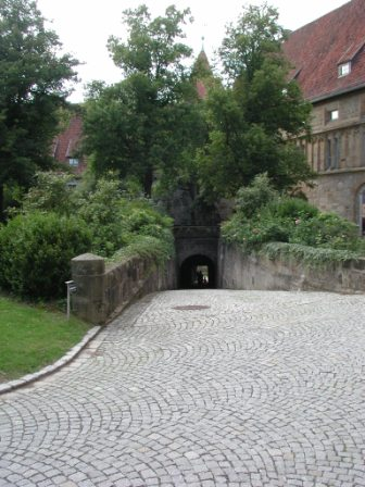View of the Red Tower tunnel from the second courtyard