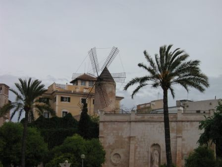 Old mill near port of Palma