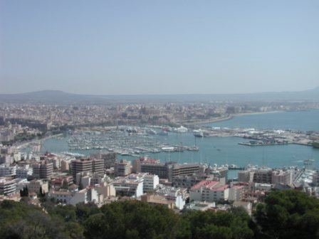 Palma de Mallorca from the Castell de Bellver